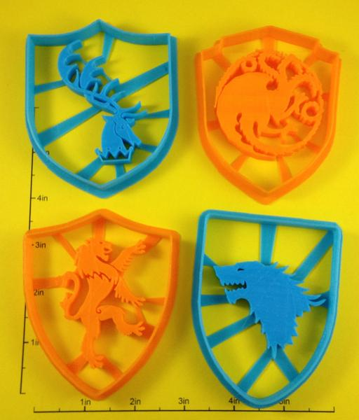 Game of Thrones Sigil Cookie Cutter Set