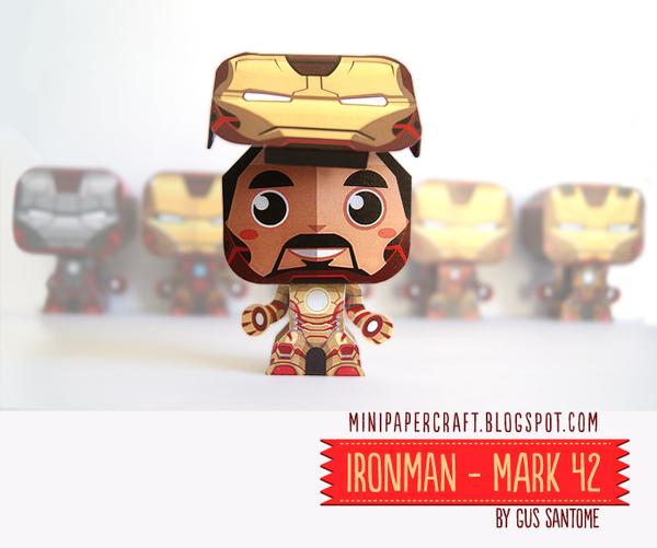 Iron Man 3 Mini Paper Crafts