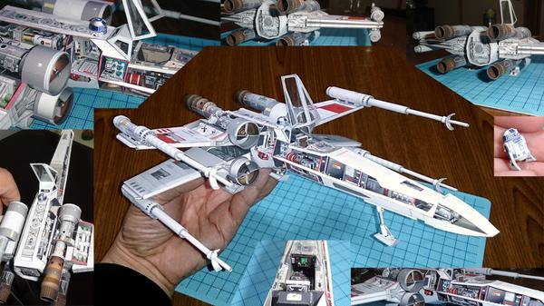 Make Your Own Star Wars X-Wing Starfighter Paper Craft