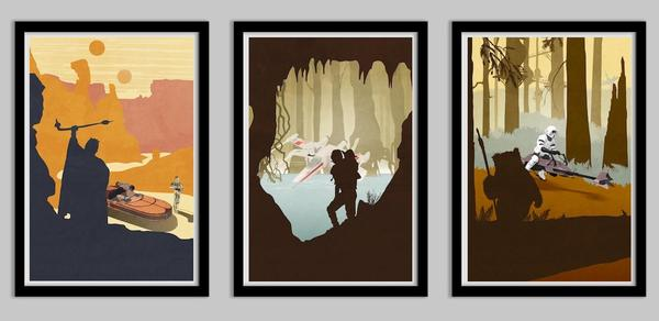 Star Wars Inspired Original Trilogy Poster Set