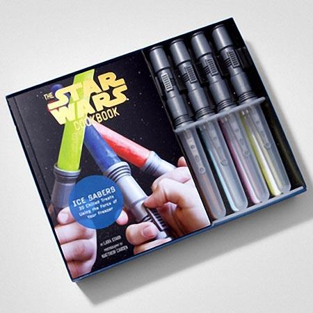 Star Wars Lightsaber Inspired Ice Mold Set with Cookbook