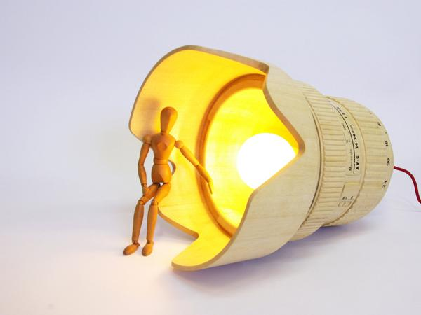 The DSLR Camera Lens Shaped Pendant Lamp