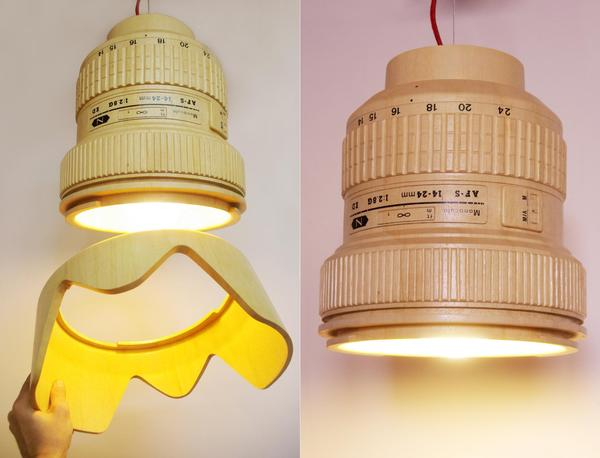 The DSLR Camera Lens Shaped Pendant Lamp