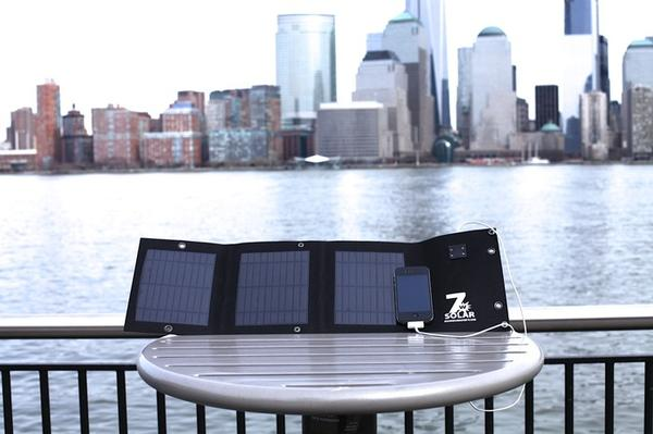 The Folding USB Solar Cell with Backup Battery