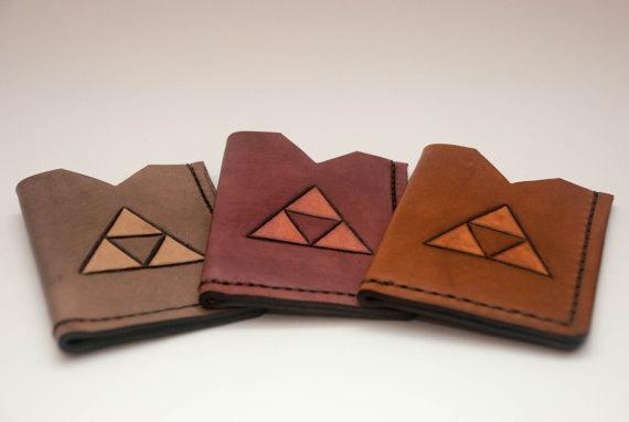 The Legend of Zelda Triforce Leather Card Holder