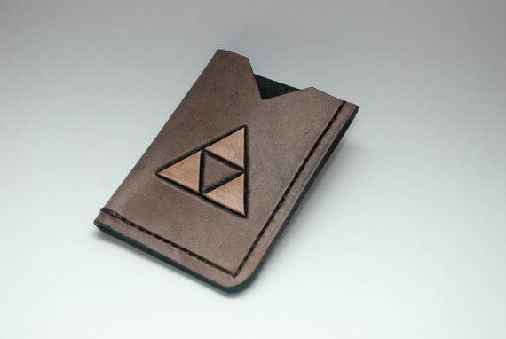 The Legend of Zelda Triforce Leather Card Holder