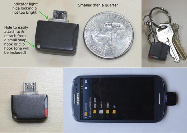 The Mini MicroSD Card Reader for Android Devices