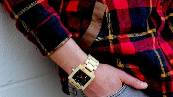 The Slab Water Resistant Wood Watch