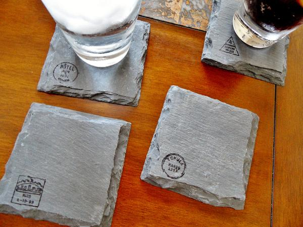 World Traveler Slate Coaster Set