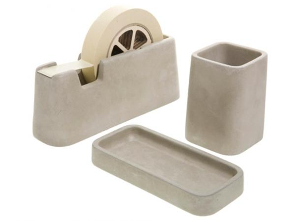 Areaware Concrete Desk Accessories