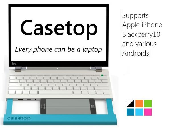 Casetop Docking Station Converts Smartphone into Laptop