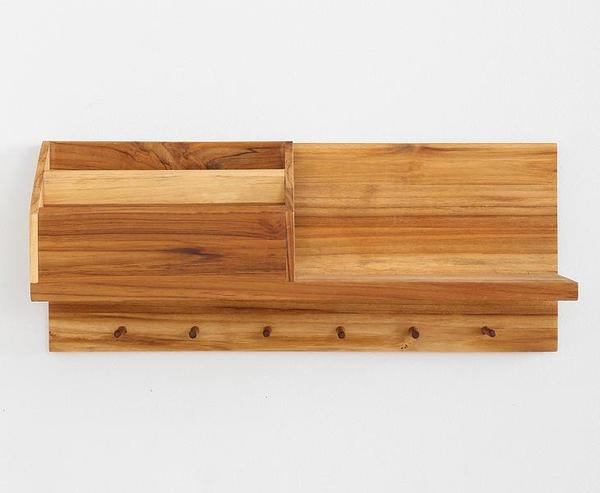 Entryway Wooden Wall Shelf