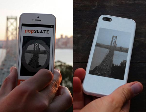 popSLATE iPhone 5 Case with E-ink Screen