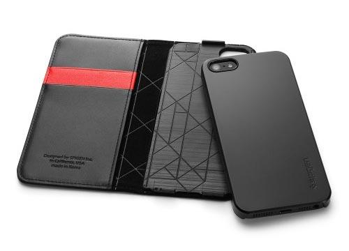 Spigen Snap Leather Wallet iPhone 5 Case