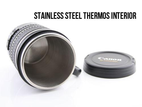 The Canon Camera Lens Thermos Mug