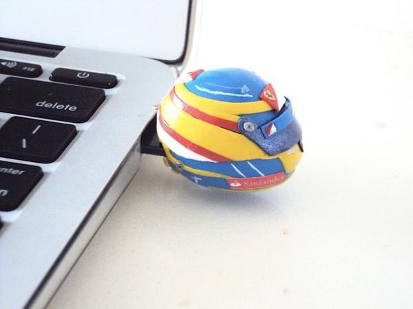 The F1 Helmet Shaped USB Flash Drive