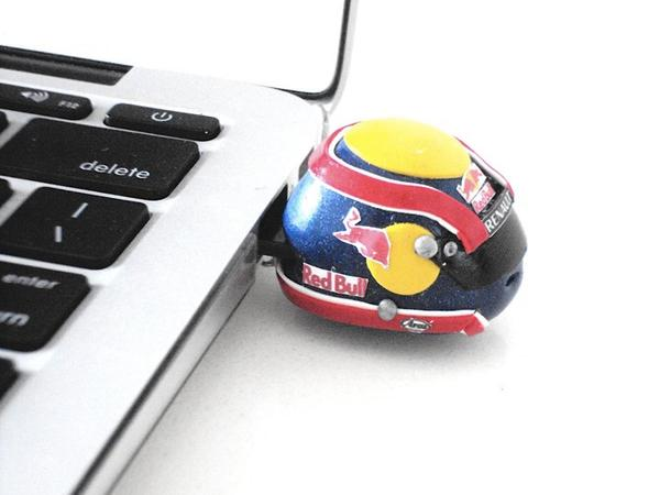 The F1 Helmet Shaped USB Flash Drive
