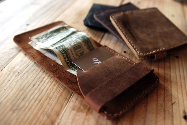 The Handmade Reddish Brown Slim Leather Wallet