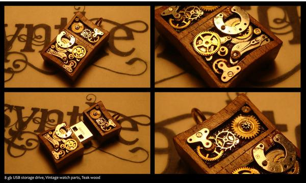 The Handmade Steampunk USB Drive Pendant