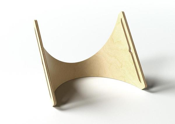 The Molded Plywood Sne iPad Stand