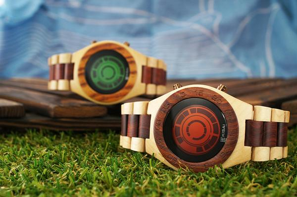 Tokyoflash Kisai Rogue SR2 and Stencil Wood LCD Watches