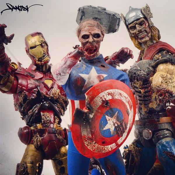 Zombie Styled Superheroes