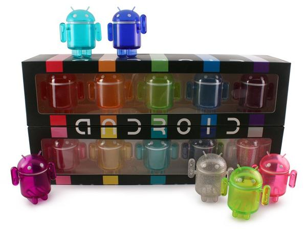 Android Collectible Mini Figure Rainbow Set