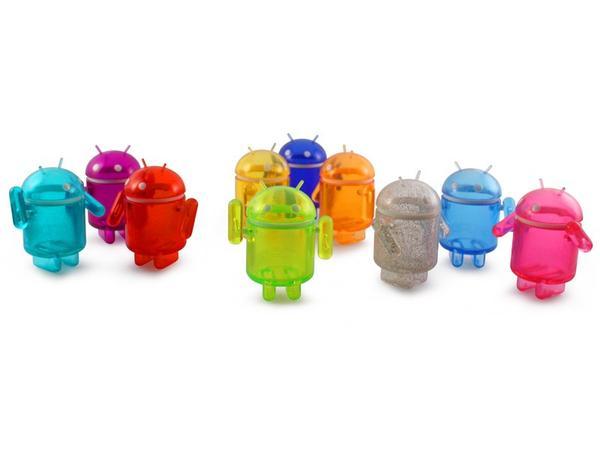 Android Collectible Mini Figure Rainbow Set