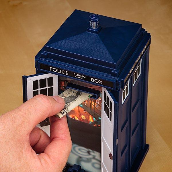 Doctor Who TARDIS Talking Money Bank
