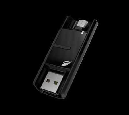 Leaf Bridge USB Flash Drive with Both USB and Micro USB Connectors
