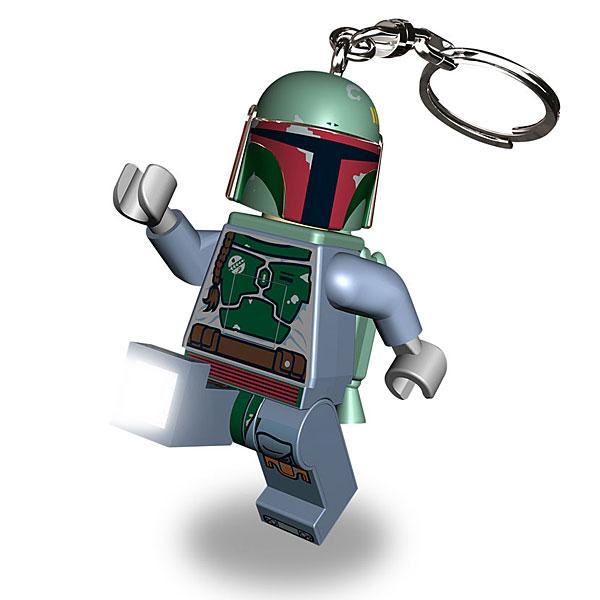 LEGO Star Wars Boba Fett Keychain with LED Light