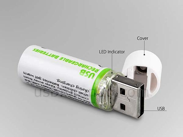 Lightors USB AA Rechargeable Battery