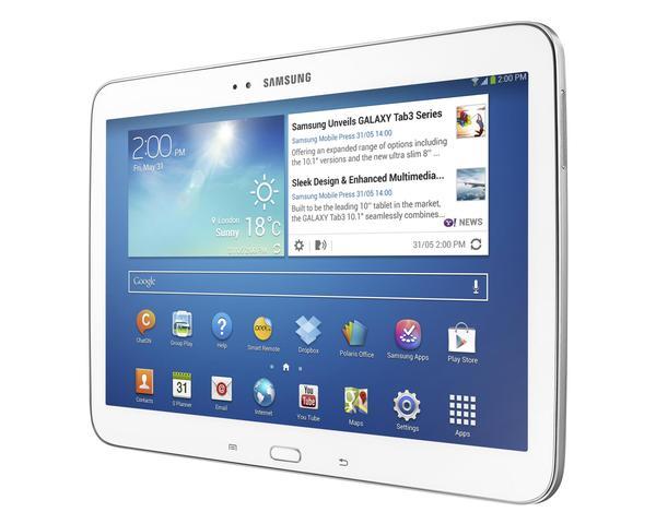 samsung galaxy tab 3 10 inch android tablet gadgetsin. Black Bedroom Furniture Sets. Home Design Ideas