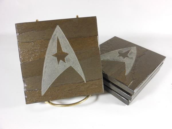 Star Trek Insignia Stone Coaster Set