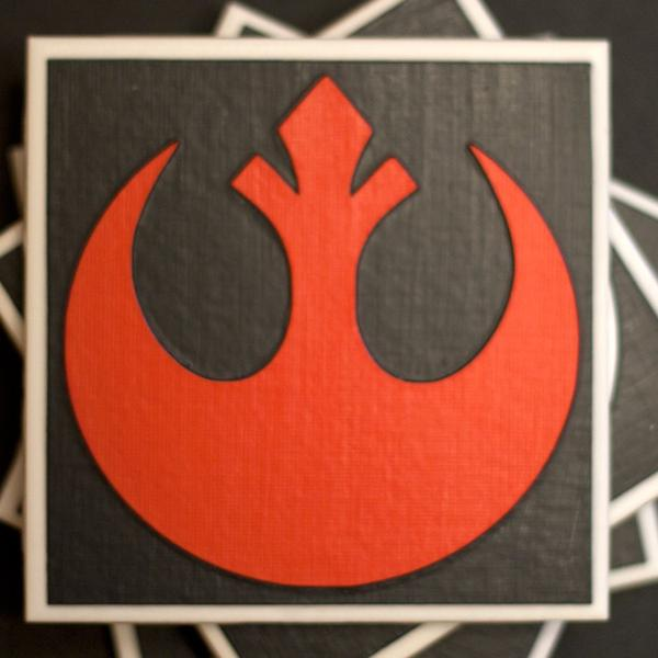 Star wars rebel and imperial coaster set may be able to catch your