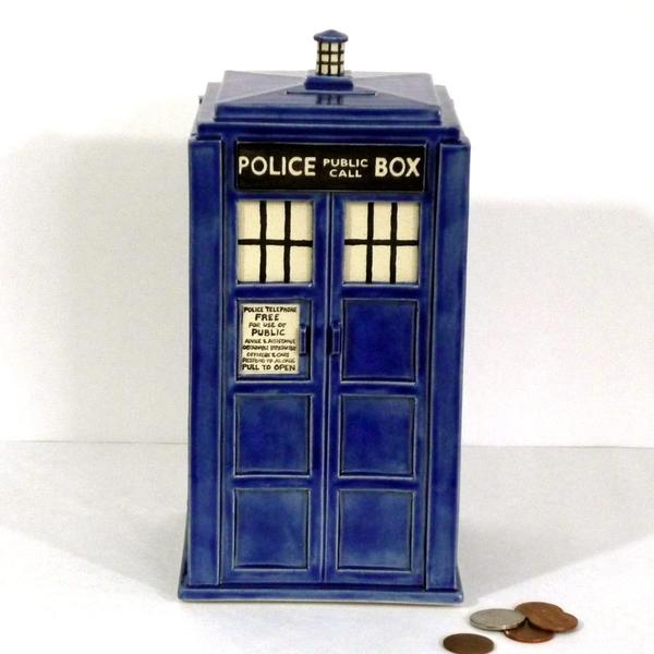 The Handmade Doctor Who TARDIS Money Bank