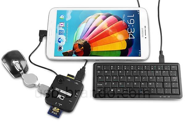 The OTG USB Hub with Card Reader