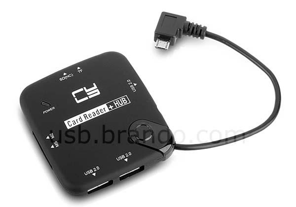 The OTG USB Hub with Card Reader