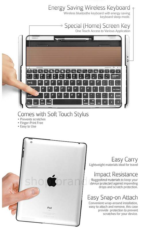The Solar Powered iPad Keyboard Case