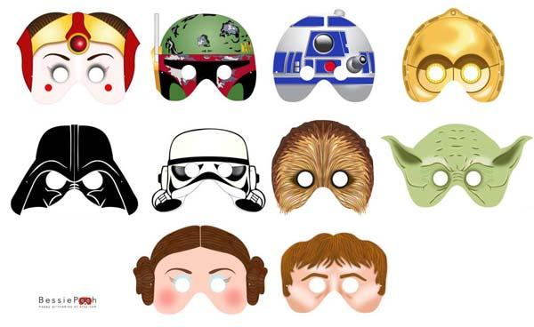 The Star Wars Printable Masks