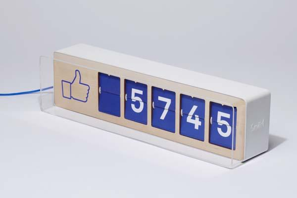 Fliike The First Physical Facebook Fan Counter