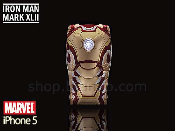 Iron Man Mark 42 iPhone 5 Case with LED Light Reflector