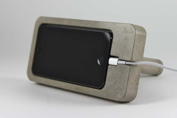 The Concrete iPhone Dock for iPhone 5