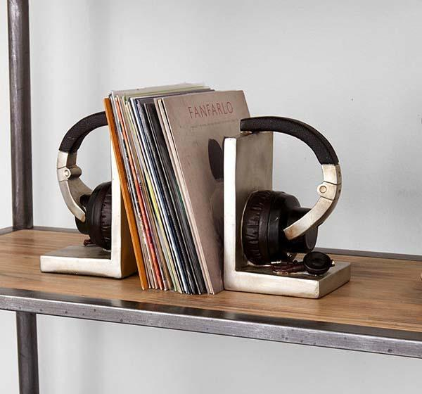 The Headphone Shaped Bookends