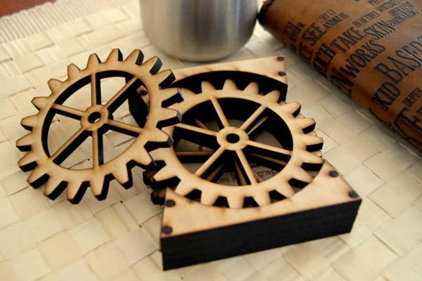 The Steampunk Gear Drink Coaster Set