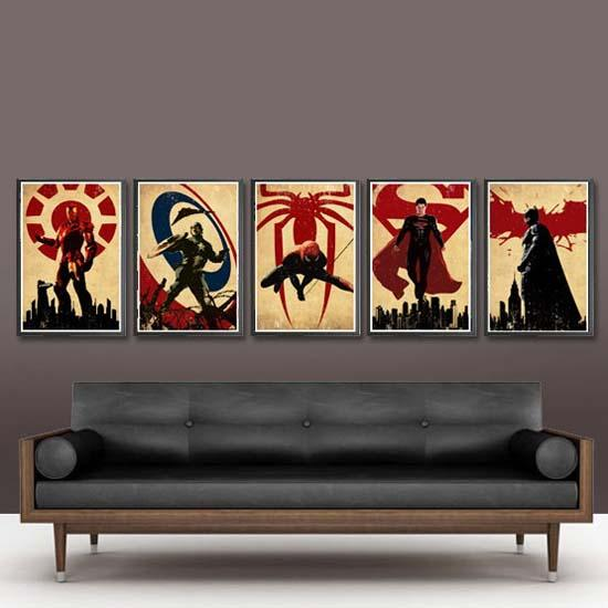 The Superhero Series Poster Set