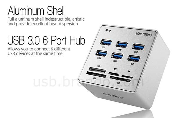 The USB 3.0 Hub with Card Reader