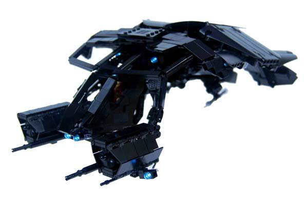 Batman S The Bat Built With Lego Bricks Gadgetsin