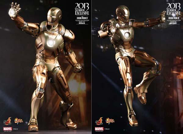 Hot Toy Iron Man 3 Mark XXI Midas Collectible Action Figure