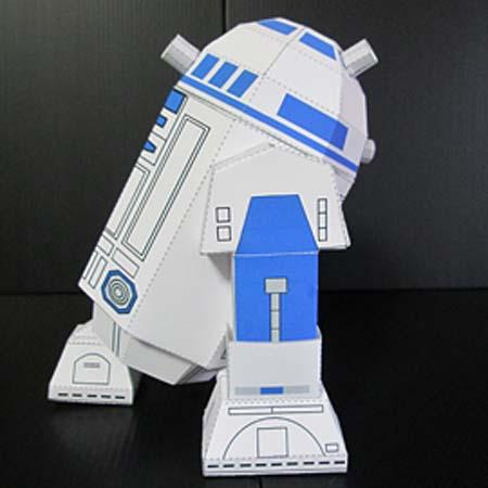 Make Your Own R2-D2 Papercraft
